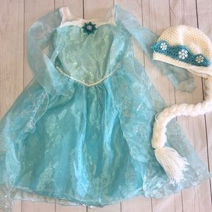 Disney Elsa costume and matching hat
